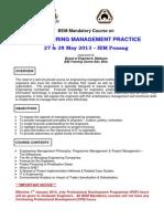 2013 - May - IEM Penang - BEM Engineering Management Practice - 27 & 28 May 2013