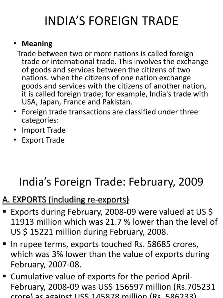 Saravanan Indias Foreign Trade