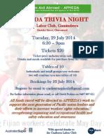 APHEDA Trivia Night