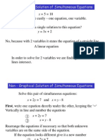 Simultaneous Equations Algebraic