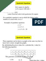 Quadratic Graphs 1