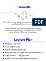 Firewalls Types of Firewalls