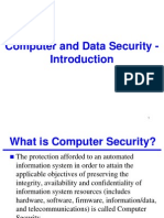 Computer and Data Security - Introduction