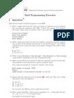 Basic Shell Programming Exercises