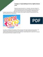 Española de la Lengua el Aprendizaje de las Aplicaciones de iPad para Niños
