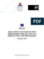 Isolation Valve Selection