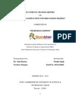 Sharekhan Final Project of Summer Training