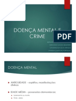 Doença Mental e Crime Slides