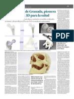 Empresa de Granada, pionera en impresión 3D para la salud