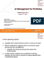 Liquidity Risk Management for Portfolios_Joseph Cherian IPARM Asia 2011 Asia Etrading