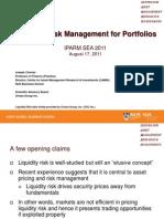 Liquidity Risk Management for Portfolios_Joseph Cherian IPARM Asia 2011 Asia Etrading