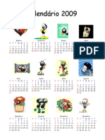 Calendário 2009 Disminlinguido