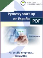 Pymes y Start Up en España (Así Está La Empresa... julio 2014) Círculo de Empresarios
