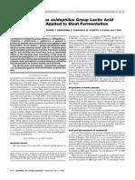 Lactobacillus Acidophilus Applied to Meat Fermentation