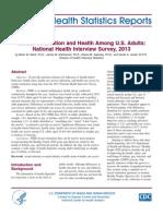 CDC National Health Statistics Reports