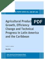 Journal Agricultural Produvtivity Growth