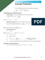 Binomial Theorem Theory E