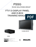 Philips Training Manual TV Plasma Display Panel Chasis FTV1 9