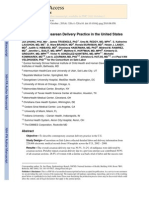 Contemporary Cesarean Delivery Practice in the United States