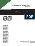 Daikin RXYQT installation manual