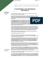 O Nacionalismo Como Ideologia da Desconversa - Maurício Tragtenberg