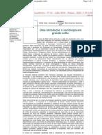 Introdução à Sociologia em Grande Estilo - João Alberto da Costa Pinto