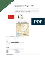 République Populaire Du Congo. Petit Histoire