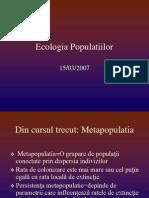 Ecologia Populatiilor Curs3 Structura Varste Genetica GS 2007