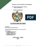Informe Final de Investigacion Sobre Alcoholismo