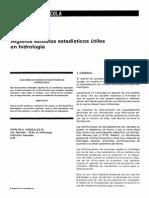 Estudios Estadisticos Utiles en Hidrologia