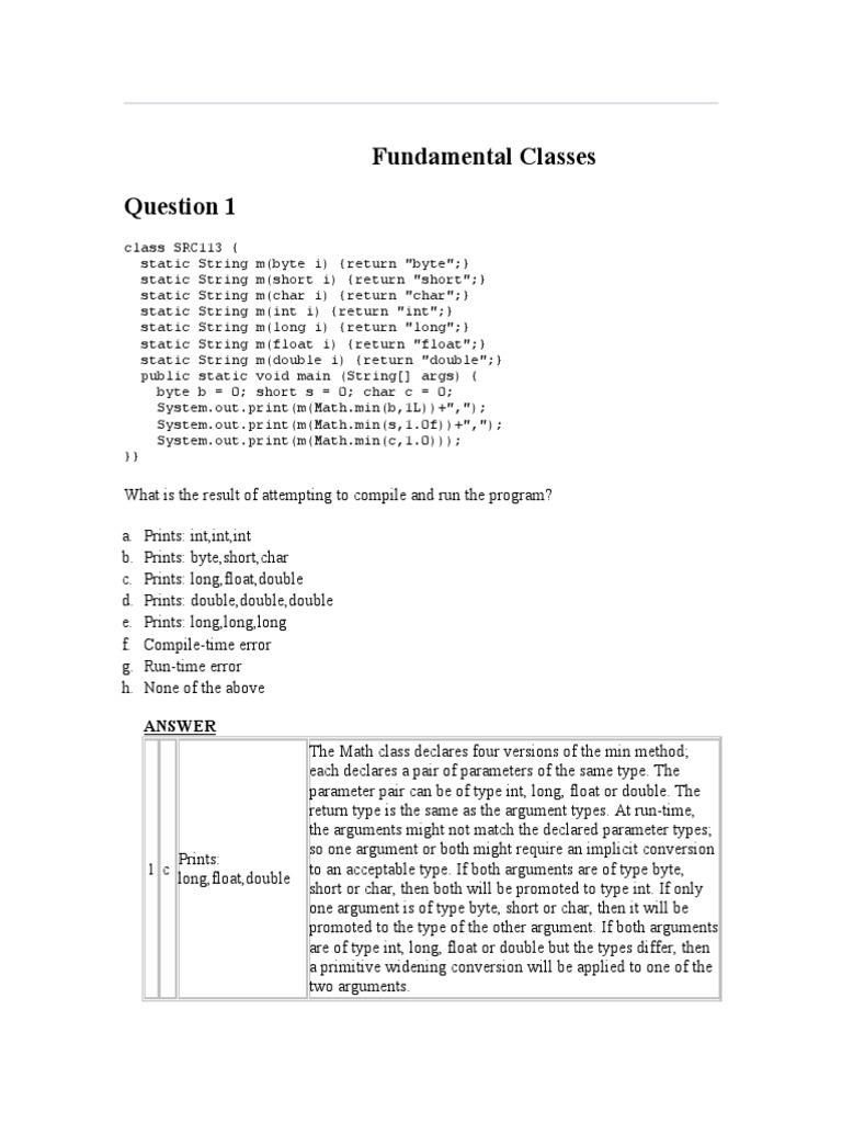 Fundamental Classes 5 | C (Programming Language) | Integer