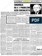 Lukacs -  Riforma Economica in Ungheria