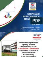 Presentation -Strategic Performance Management System -Jennifer Timbol