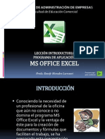introduccion a ms office excel