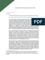 Crisis Identidad Etica Profesional Salud
