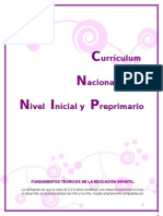Fundamentos Del Curriculum Nacional Base Nivel Preprimario y Criterios de Calidad