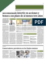 Recomiendan Invertir en Acciones y Bonos a Un Plazo de Al Menos 3 Años_Gestión 17-07-2014