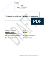 Bridgeforce Skype Desktop Procedure