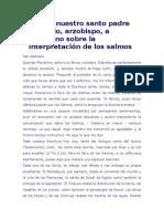 Atanasio - Carta a Marcelino Sobre La Interpretacion de Los Salmos