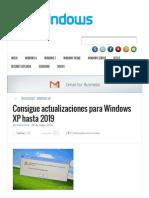 Consigue Actualizaciones Para Windows XP Hasta 2019