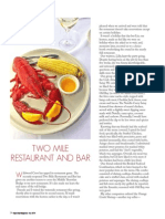 2 Mile Restaurant Review in Cape May Magazine