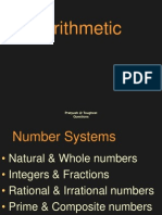 Arithmetic LCM and HCF