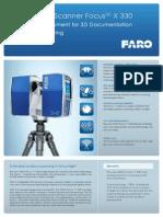 Faro Focus 3d x330 Laser Scanner Brochure