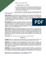 Resolución No. 178 2008. Categorización de Las Redes