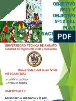 Objetivo Nº11 y Objetivo Nº12 Del Plan Nacional