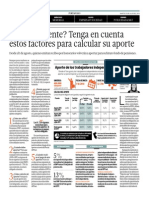 Independiente. Ten en Cuenta Estos Factores Para Calcular Aporte a AFP_El Comercio 15-07-2014