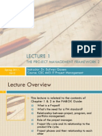 CSC 443- Lecture 1- The Project Management Framework