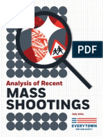 Analysis of Recent Mass Shootings