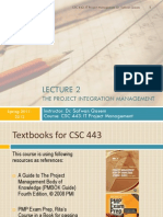 CSC 443- Lecture 2- Project Integration Management