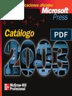 Catalogo Microsoft 2003